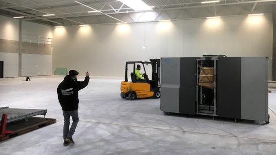 Blick in die neue Halle von FCZ